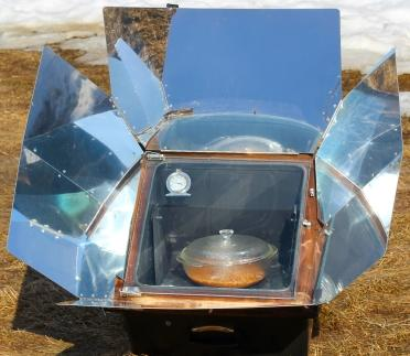 solar oven cooking off the grid